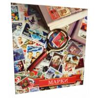 """Альбом """"Цветной"""" для марок с 10 листами. Формат Optima"""