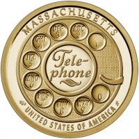 1 доллар США Американские инновации - Первый дисковый номеронабиратель (Телефон) 2020 года