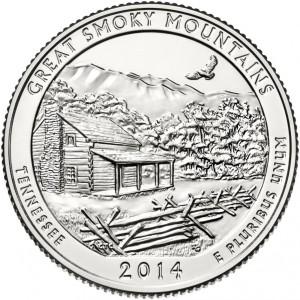 25 центов 21-ый парк Грейт-Смоки-Маунтинс