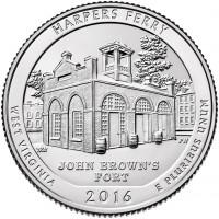 25 центов 33-ий парк Харперс Ферри