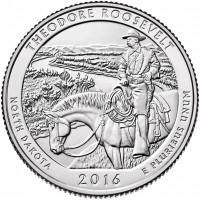 25 центов 34-ый парк Теодор-Рузвельт