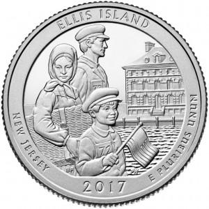 25 центов 39-ый парк Национальный монумент острова Эллис