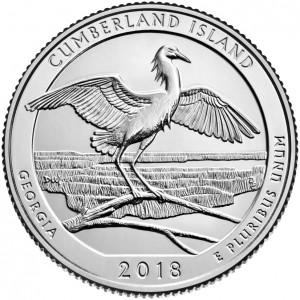 25 центов 44-ый парк Национальное побережье острова Кумберленд