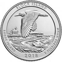 25 центов 45-ый парк Национальное убежище дикой природы острова Блок