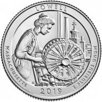 25 центов 46-ой парк Национальный исторический парк Лоуэлл
