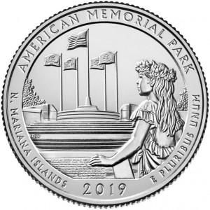 25 центов 47-ой парк Американский мемориальный парк (2019 года)