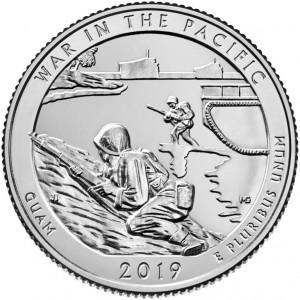 25 центов 48-ой парк Национальный монумент воинской доблести в Тихом океане (2019 года)