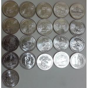 Набор монет Национальные парки США