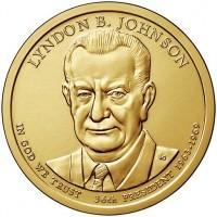 1 доллар 36-ой Президент Линдон Джонсон
