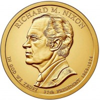 1 доллар 37-ой Президент Ричард Никсон
