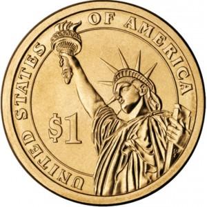1 доллар 34-ый Президент Дуайт Эйзенхауэр