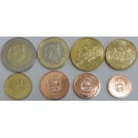 Набор монет Евро (Латвия, 2014)