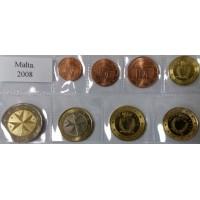 Набор монет Евро (Мальта, 2008)