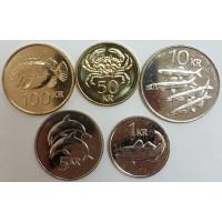 """Набор монет Исландии """"Рыбы"""" (2005-2011 года)"""