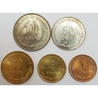 """Набор монет Мьянмы """"Львы"""" (1999 года)"""