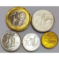 "Набор монет Сингапура ""Здания"" (2013 года)"