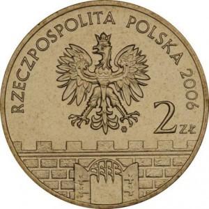 Исторические города Польши: Жагань (2 злотых, Польша, 2006 года)