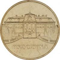 Исторические города Польши: Пщина (2 злотых, Польша, 2006 года)