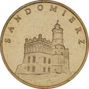 Исторические города Польши: Сандомир (2 злотых, Польша, 2006 года)
