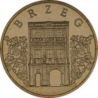 Исторические города Польши: Бжег (2 злотых, Польша, 2007 года)