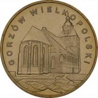 Исторические города Польши: Гожув-Велькопольский (2 злотых, Польша, 2007 года)