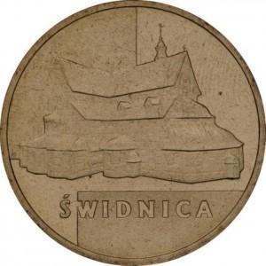 Исторические города Польши: Свидница (2 злотых, Польша, 2007 года)