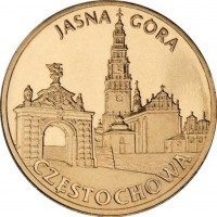 Города Польши: Ченстохова, Ясная Гора (2 злотых, Польша, 2009г)