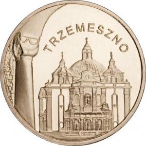 Города Польши: Тшемешно (2 злотых, Польша, 2010г)