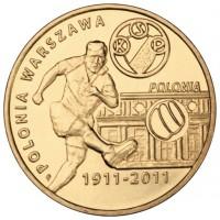 Польские футбольные клубы: Полония Варшава (2 злотых, Польша, 2011 года)