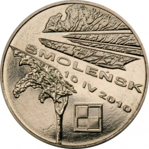 Смоленск - память о жертвах 04.10.2010 (2 злотых, Польша, 2011 года)