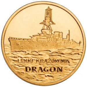 Польские суда: Лёгкий Крейсер «Дракон» (2 злотых, Польша, 2012 года)