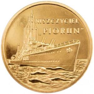 Польские суда: Эсминец «Перун» (2 злотых, Польша, 2012 года)