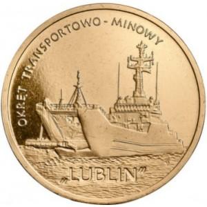 Польские суда: Минно-десантный корабль «Люблин» (2 злотых, Польша, 2013 года)