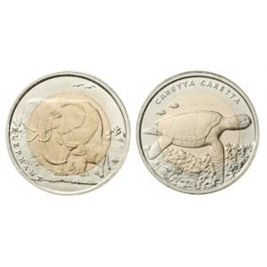 Слон и Черепаха (1 лира, Турция, 2009 года)